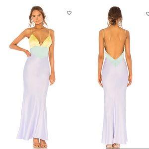 Majorelle- Rosalinda maxi colorblock dress